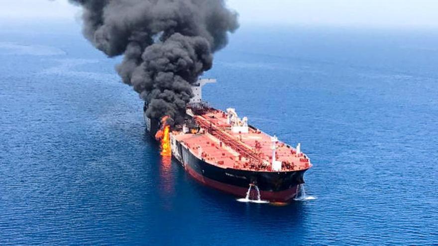 Trump dice tener pruebas de que Irán atacó los buques