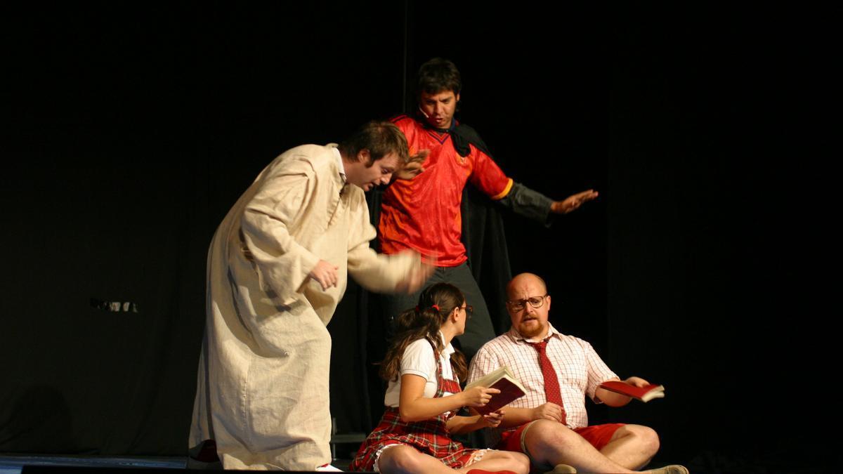 Imagen de archivo de una obra de teatro familiar.