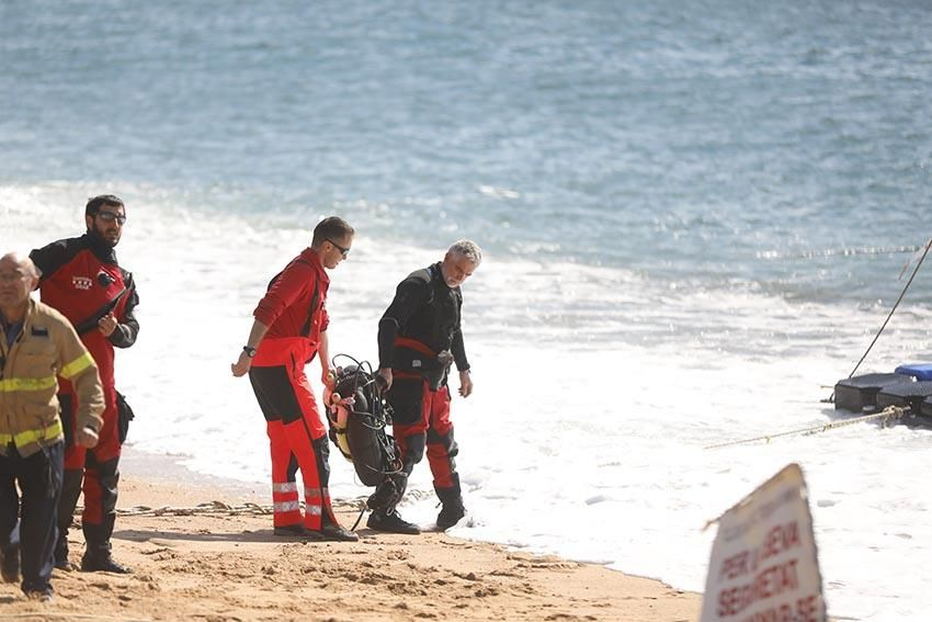 Recerca del pescador desaparegut a Tossa de Mar
