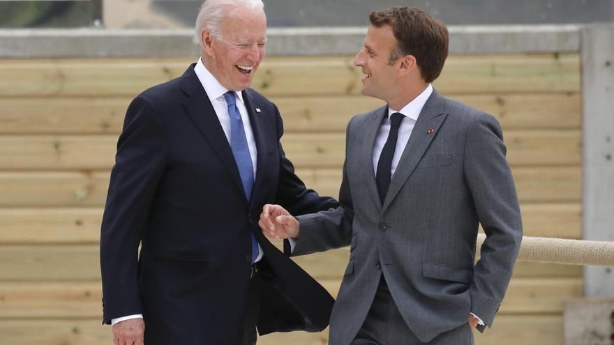 Macron y Biden tratarán personalmente la crisis de los submarinos