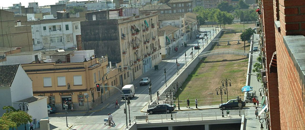 Vista del barranco de la Saleta a su paso por el casco urbano de Aldaia. | L-EMV