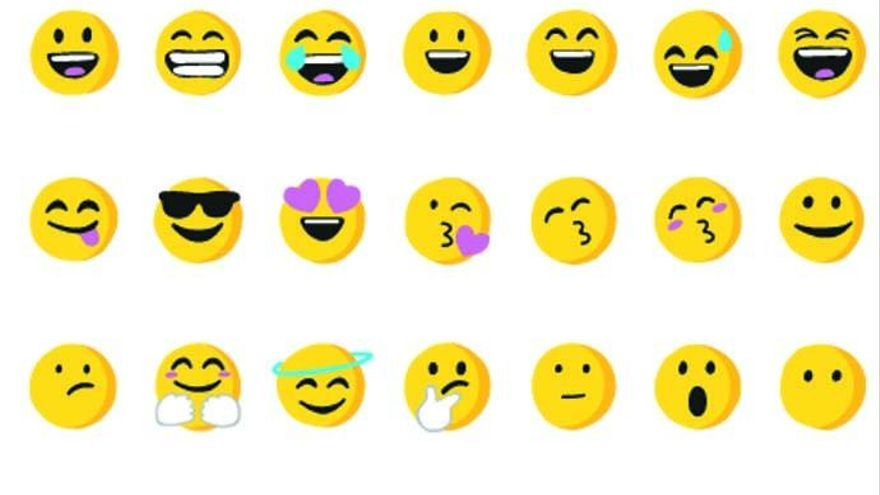 Los 'emojis' más y menos usados por los usuarios
