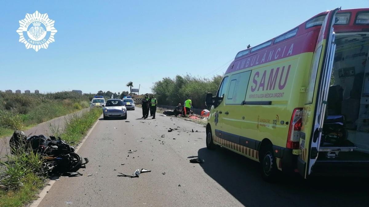 Dos motoristas de 46 y 62 años han fallecido este sábado tras chocar frontalmente en el camino La Ratja de Benicàssim