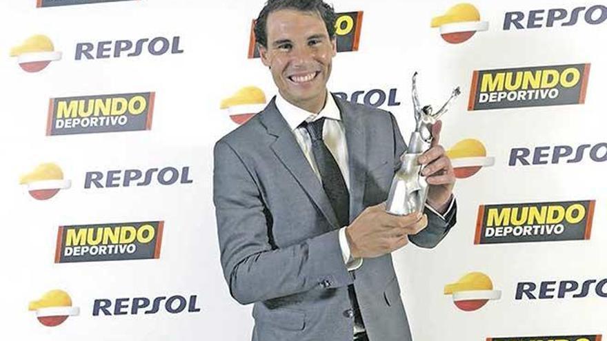 Rafel Nadal, mejor deportista del año en la Gala de Mundo Deportivo