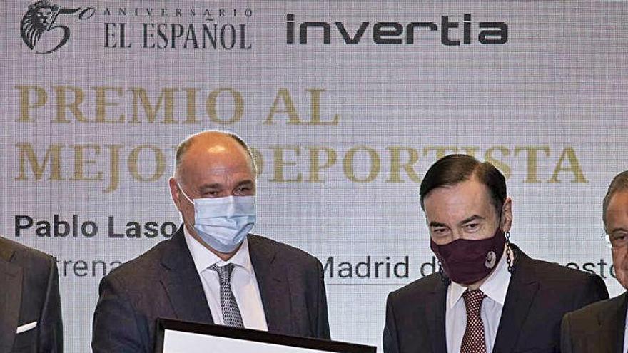 La polémica foto de Florentino Pérez sin mascarilla