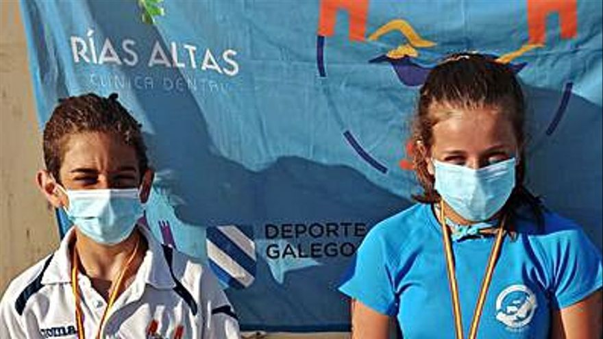 Oro y plata infantiles para Nuno Lorenzo y Xiana López