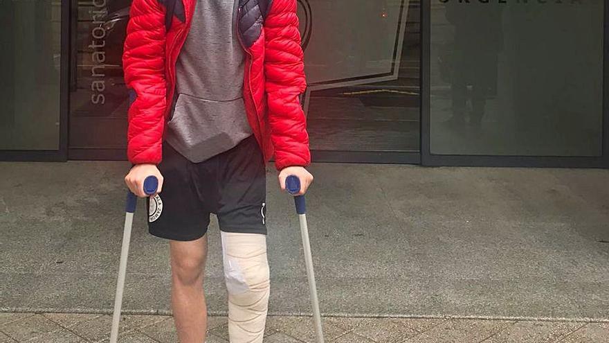 Pablo García, del InterSala Zamora, se somete a una operación de menisco