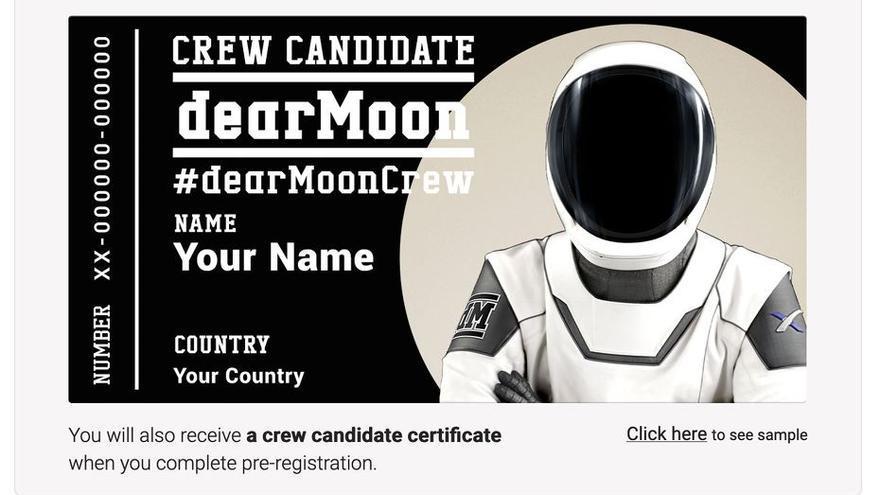 Si quieres ir a la Luna gratis, solo tienes que rellenar este formulario
