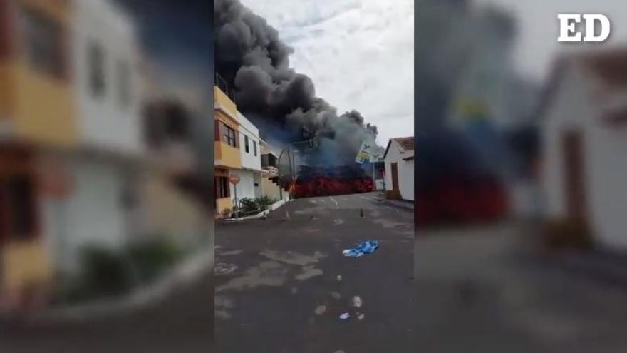 La lava arrasa la gasolinera de La Laguna