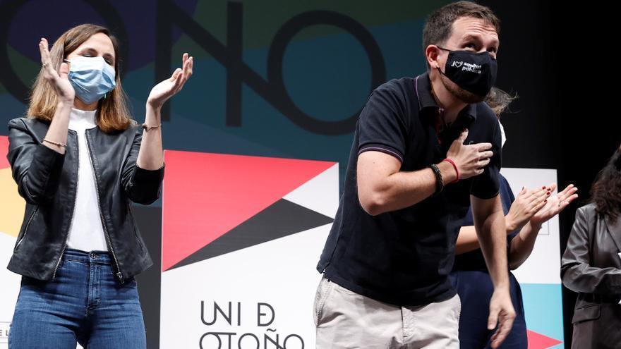 """Belarra e Iglesias respaldan el """"frente amplio"""" que quiere construir Yolanda Díaz"""