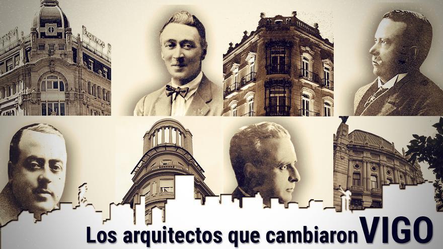 Los arquitectos que cambiaron Vigo: Manuel Gómez Román, Jenaro de la Fuente y Antonio Palacios