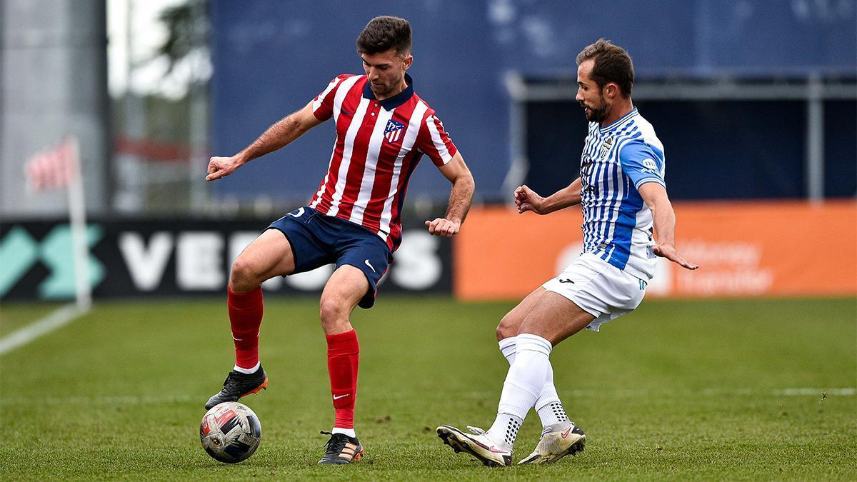 Canario ha sido de los jugadores más activos del Baleares ante el Atlético B