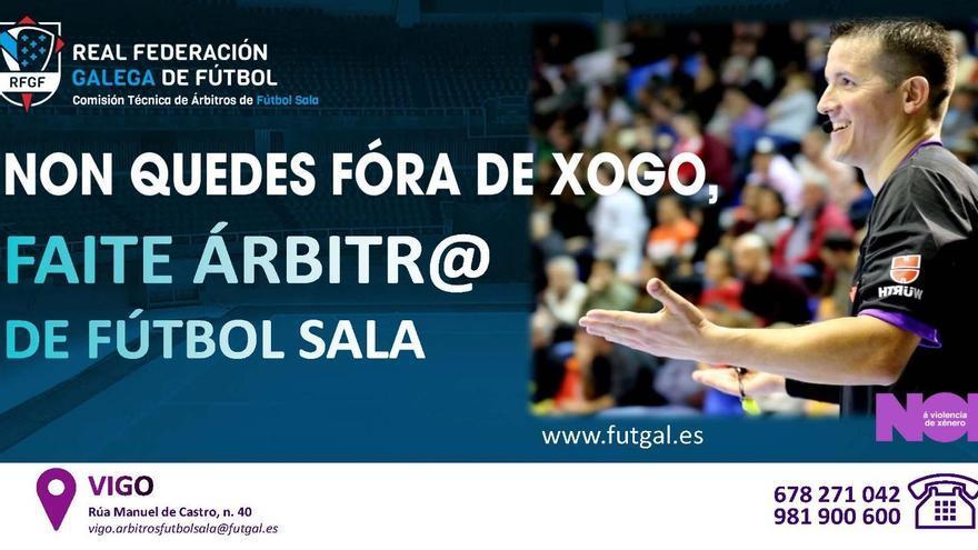 El Comité de Árbitros de Fútbol Sala en Vigo inicia una campaña de captación