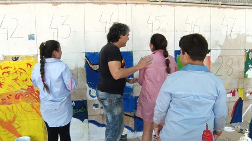57 escolares de Sagunt sacan a Van Gogh a la calle
