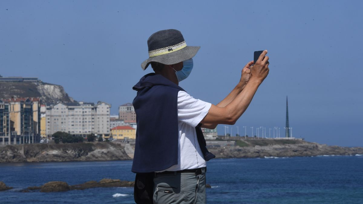 Buena temperatura y cielo despejado en A Coruña.