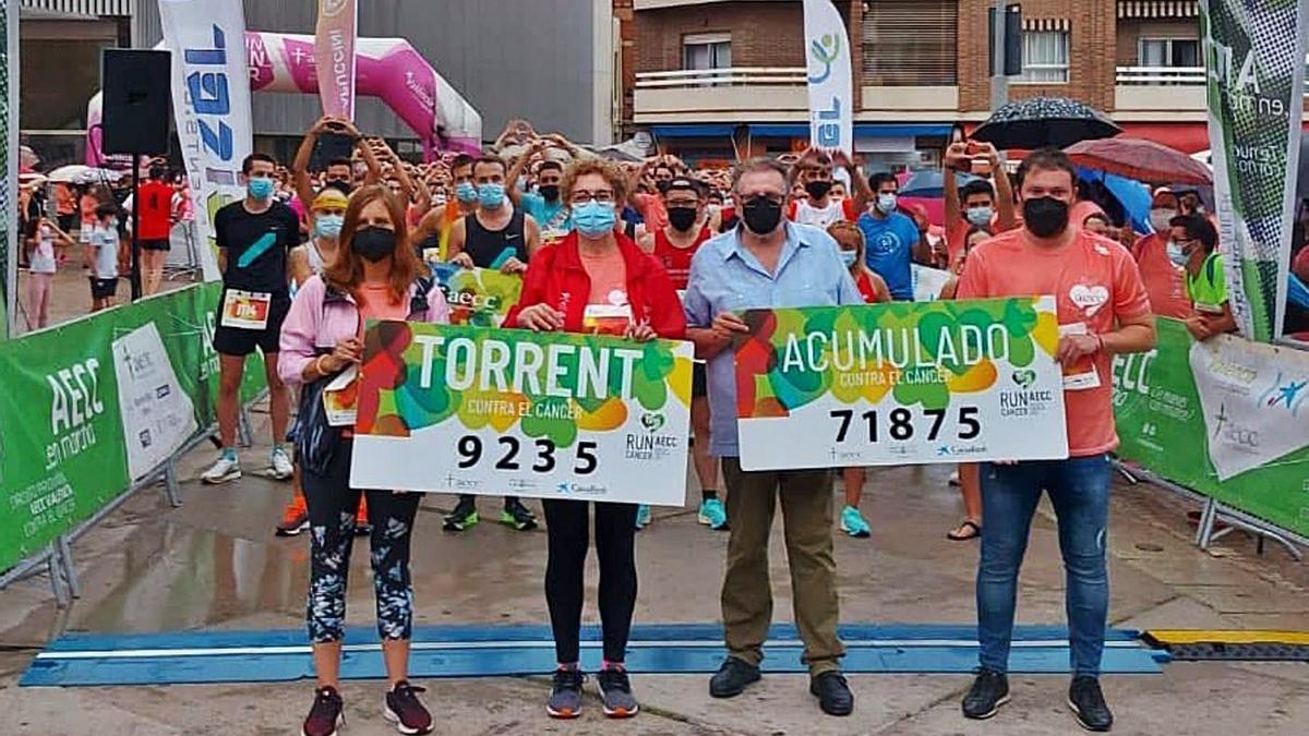 Torrent recaudó para la lucha contra el cáncer 9.235 euros.    A. T.