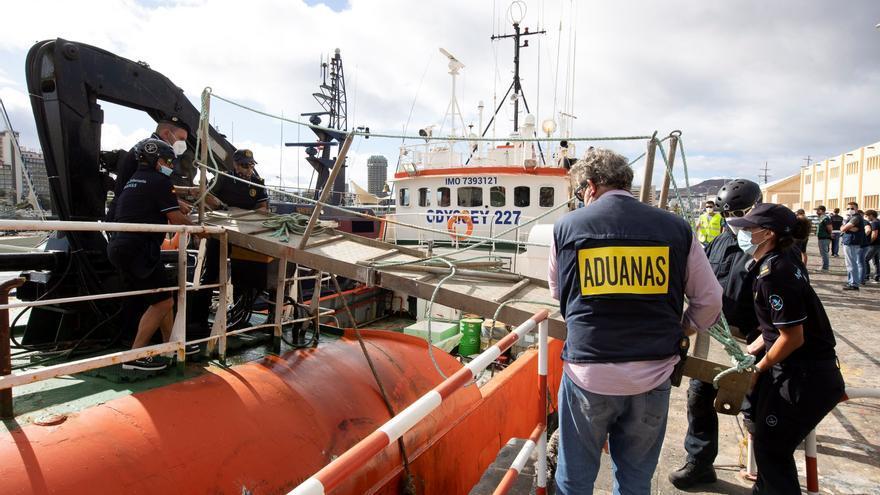 Incautan en Santander un camión que iba al ferry con 283 kilos de marihuana