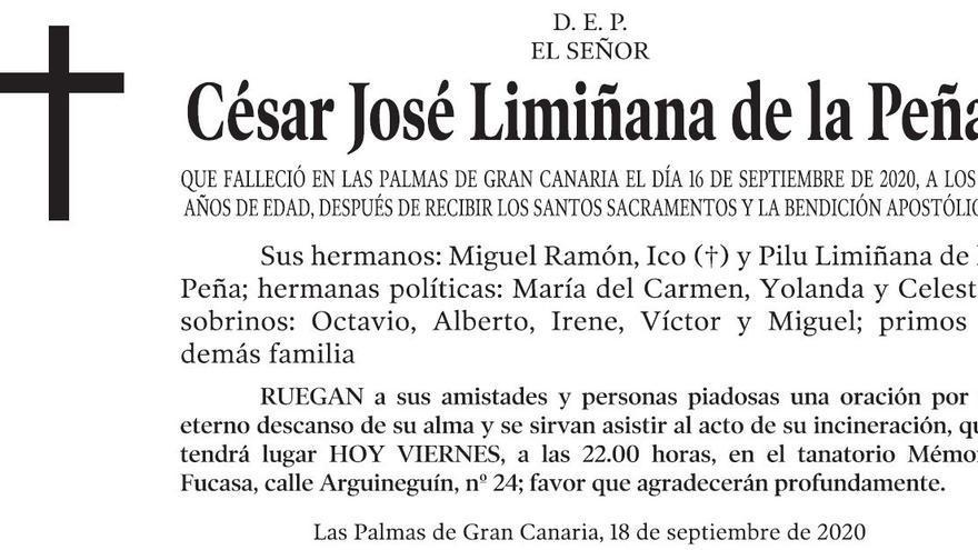 César José Limiñana de la Peña