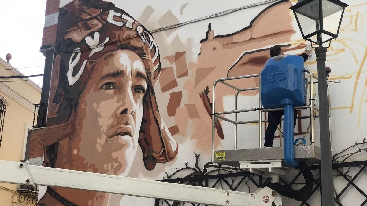 Un mural rinde homenaje al Carnaval en Aguilar de la Frontera