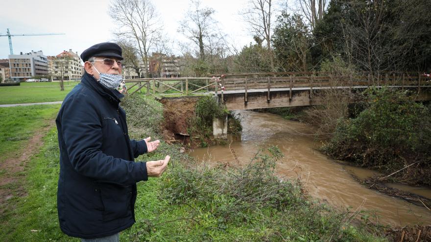 El parque fluvial y la zona rural de Gijón se llevan la peor parte del temporal