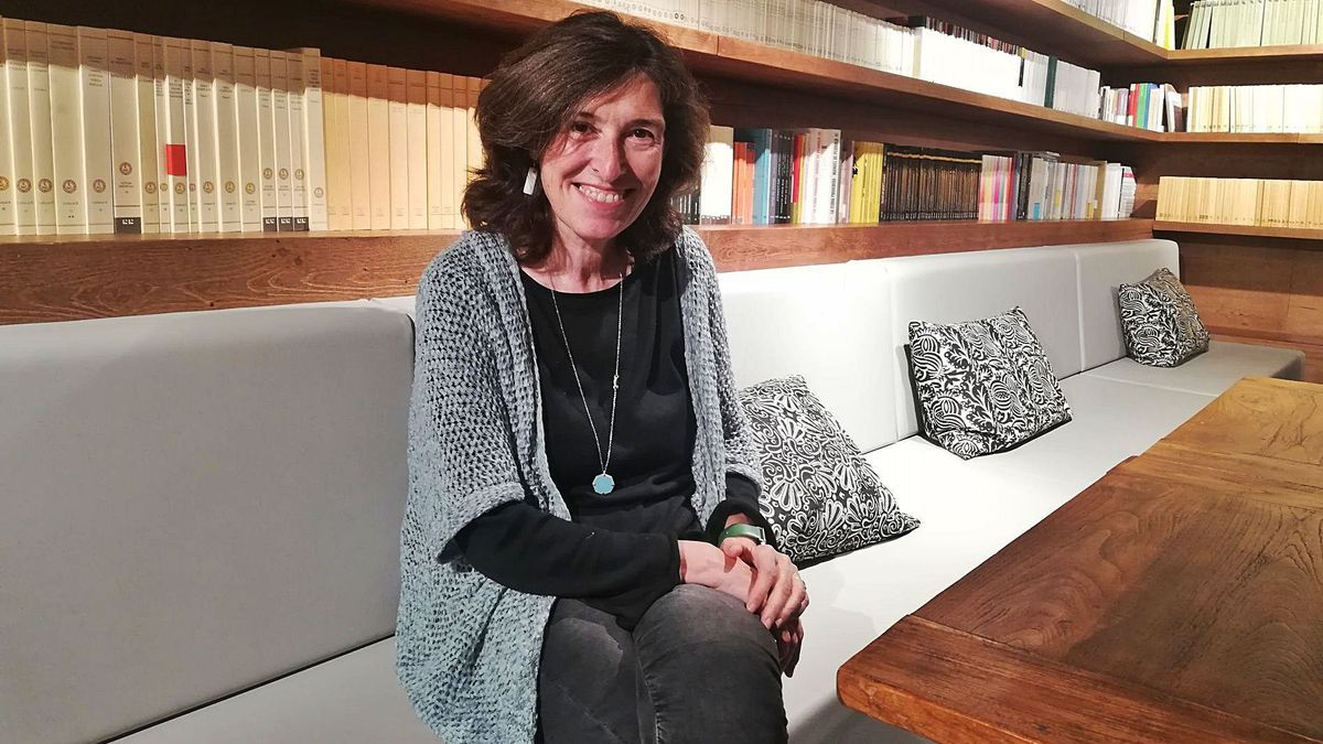L'escriptora Alba Sabaté, a la llibreria Ona de Barcelona | T. M. R.