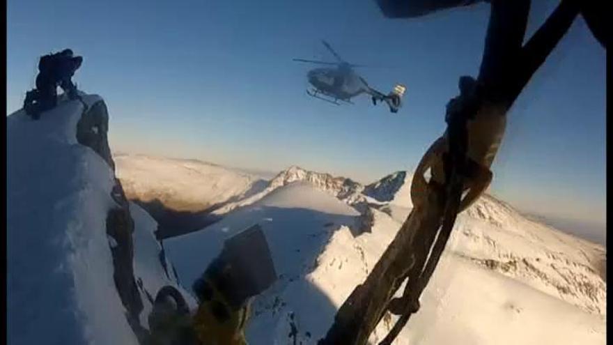 Increíble rescate de un escalador en Sierra Nevada
