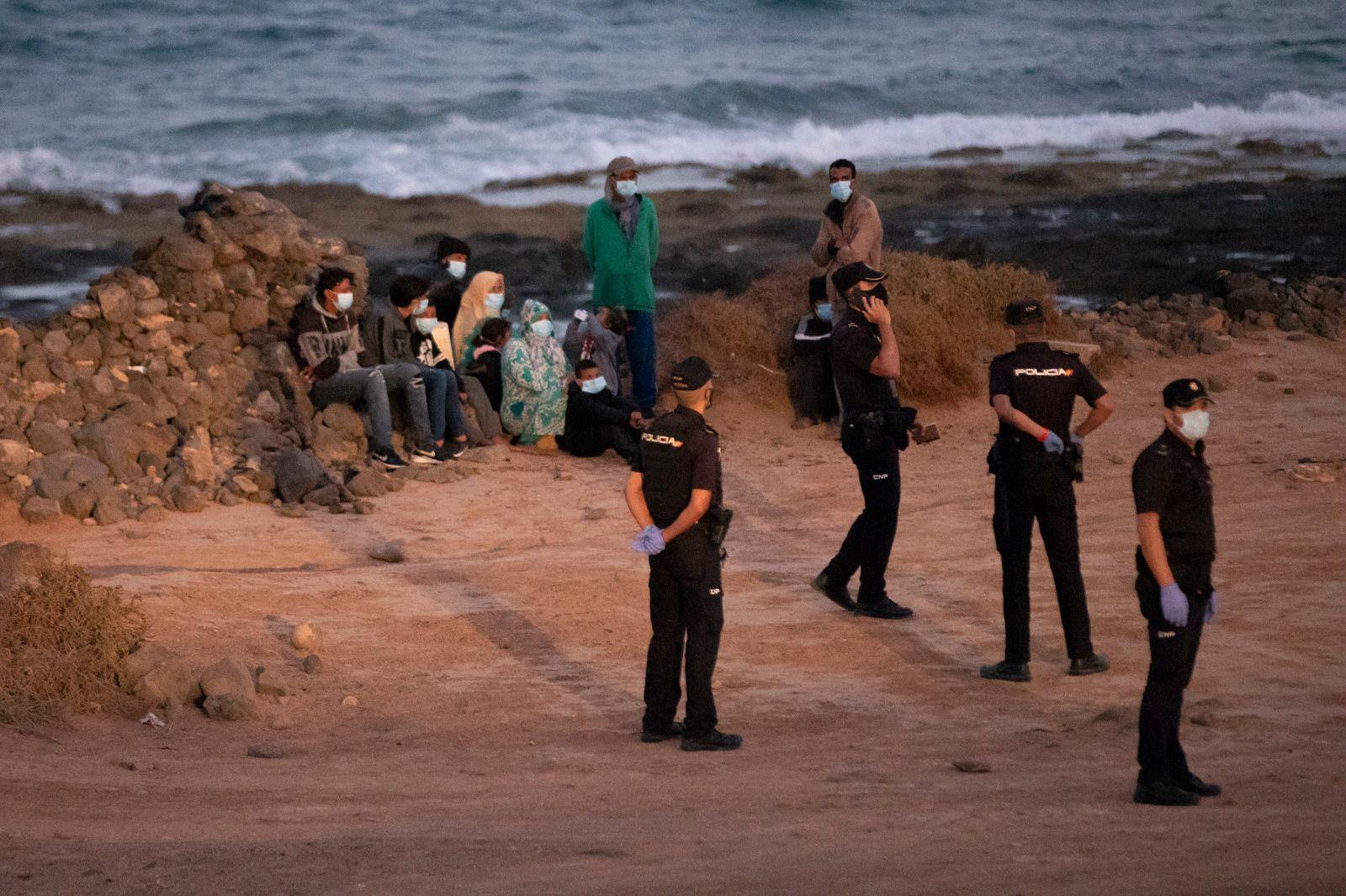 Una patera arriba a las costas de Fuerteventura