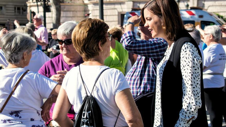 Sandra Gómez presentará una moción para garantizar las pensiones