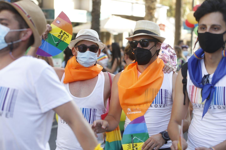 Celebración del Orgullo gay 2021 en Alicante