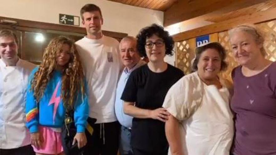 Piqué i Shakira, al restaurant Cal Candi de Vilada