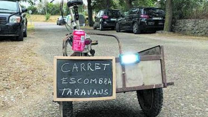 Taravaus cuida el medi ambient amb una iniciativa singular: el carret escombra