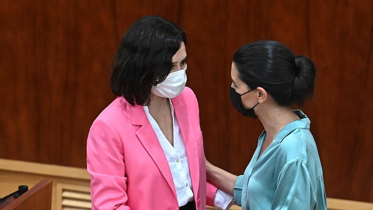 Isabel Díaz Ayuso y Rocío Monasterio.