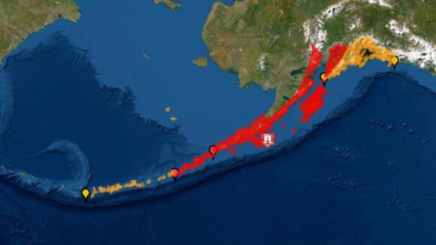 Alerta de tsunami a Alaska després d'un terratrèmol de magnitud 7,8