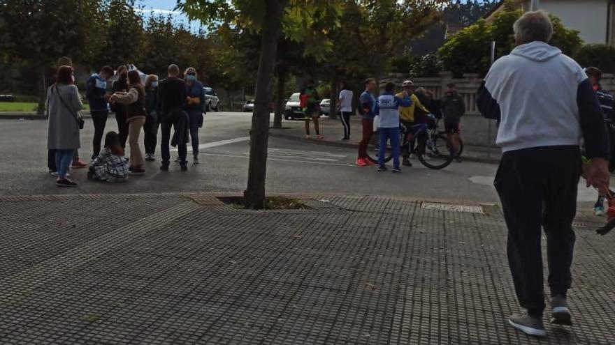 Un herido al caer de su bicicleta en el XII Duatlón de Castrillón