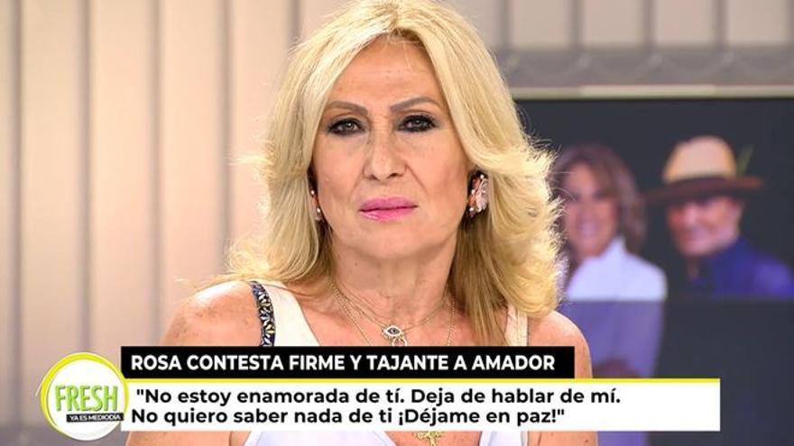 """Rosa Benito frena a Amador Mohedano: """"Déjame en paz, jamás voy a volver contigo"""""""