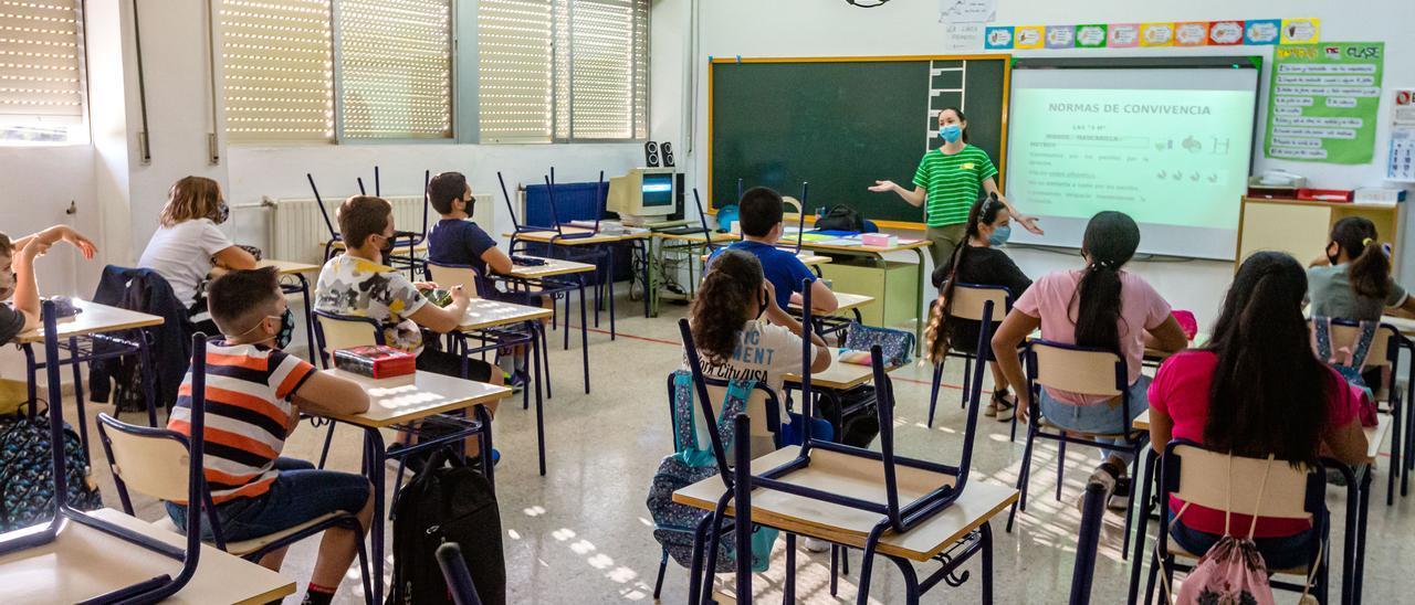 La incidencia del covid en los colegios de la provincia retrocede a niveles del inicio del curso