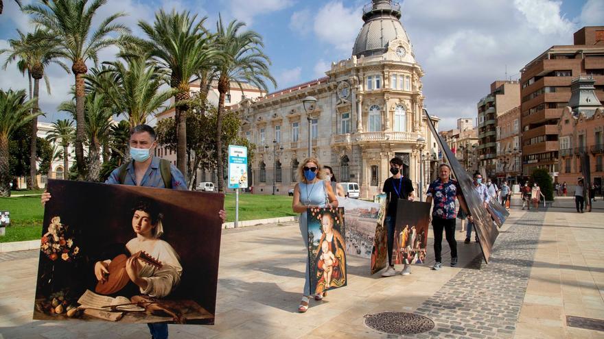 Reproducciones de cuadros del Museo del Prado recorren Cartagena