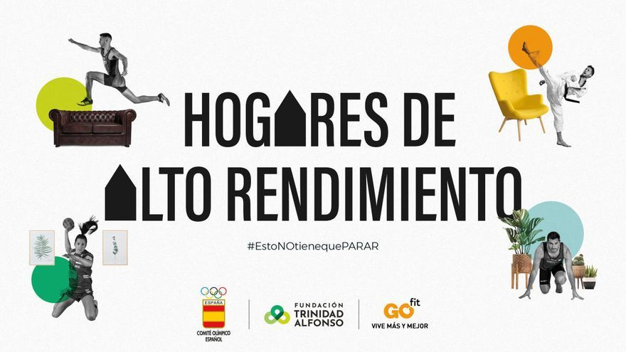 El Comité Olímpico Españok, GO fit y la Fundación Trinidad Alfonso lanzan 'Hogares de Alto Rendimiento'