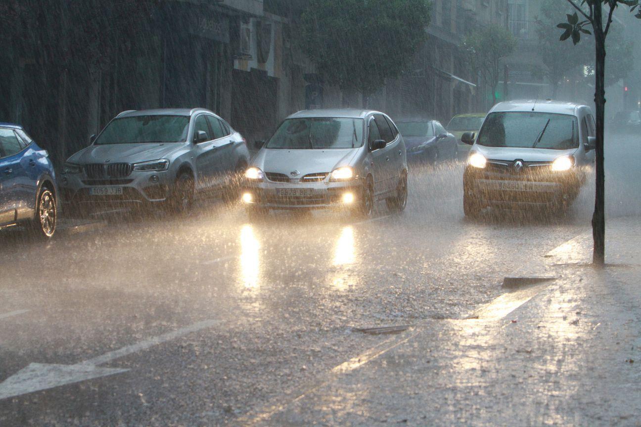 Las imágenes de un temporal en Ourense para la historia