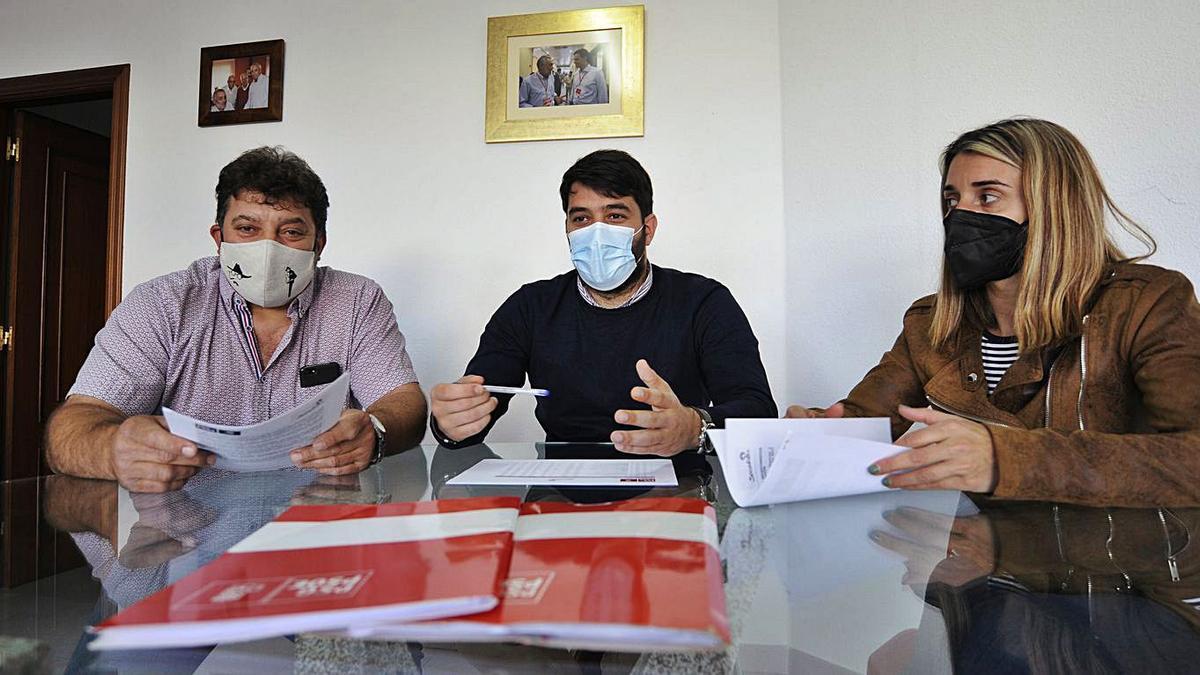 El PSOE realizó una valoración sobre los dos primeros años de mandato. |   // BERNABÉ/JAVIER LALÍN