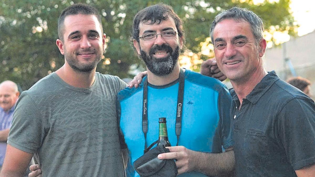 Joaquín Olmedo, Francisco Javier Martínez y Adrían Guirado.