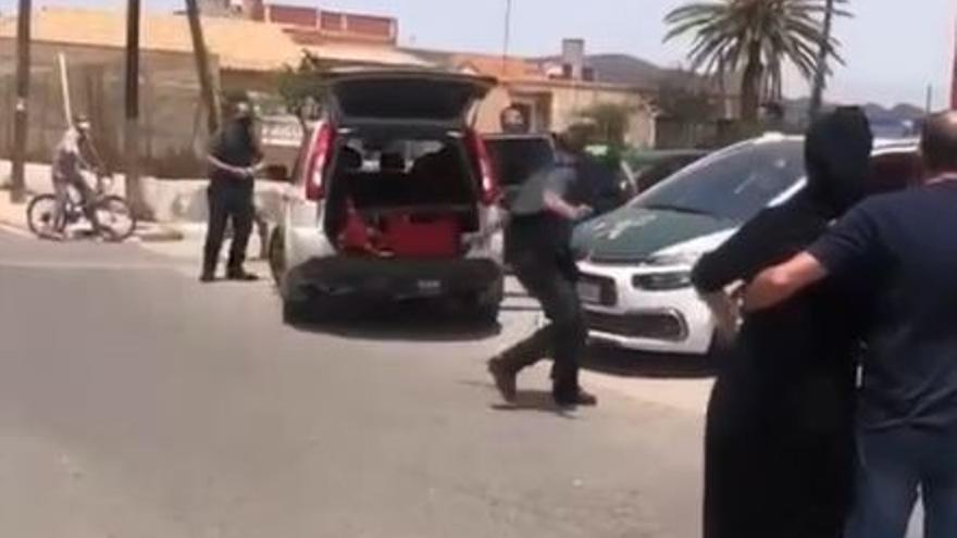 Tensión en el cuartel donde se encuentra el sospechoso del crimen de Mazarrón
