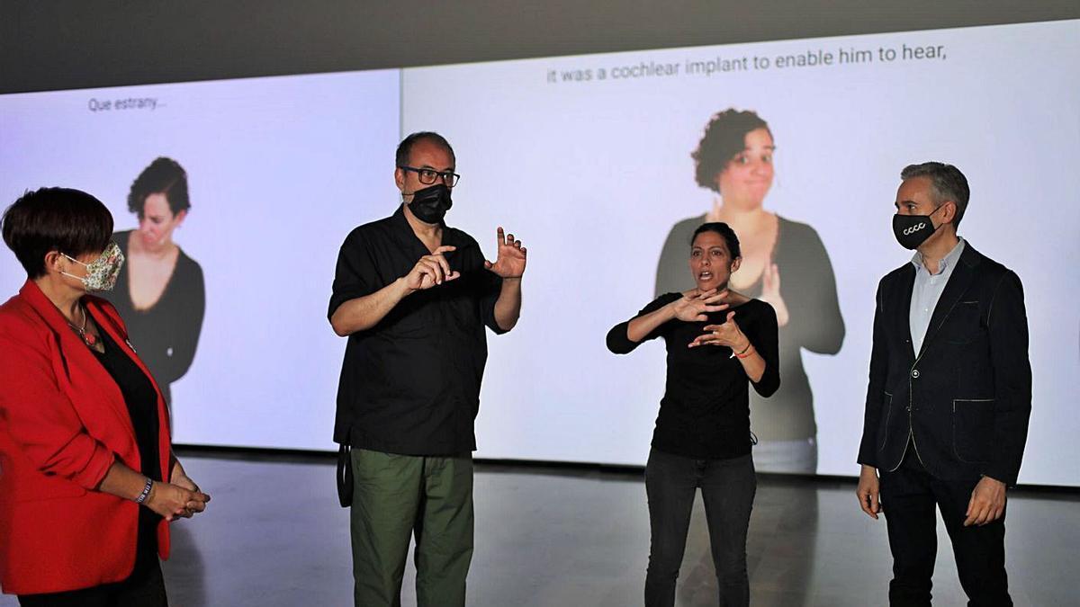 Antoni Abad, Amparo Minguet y José Luis Pérez Pont.   CCCC