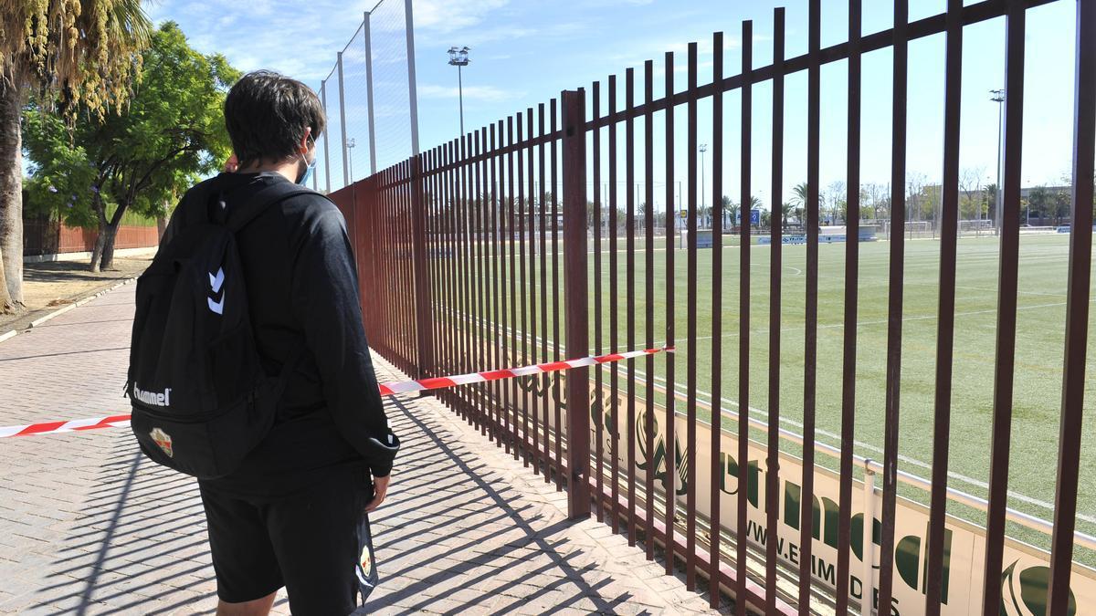 Una de las instalaciones de la Ciudad Deportiva acotada por las restricciones