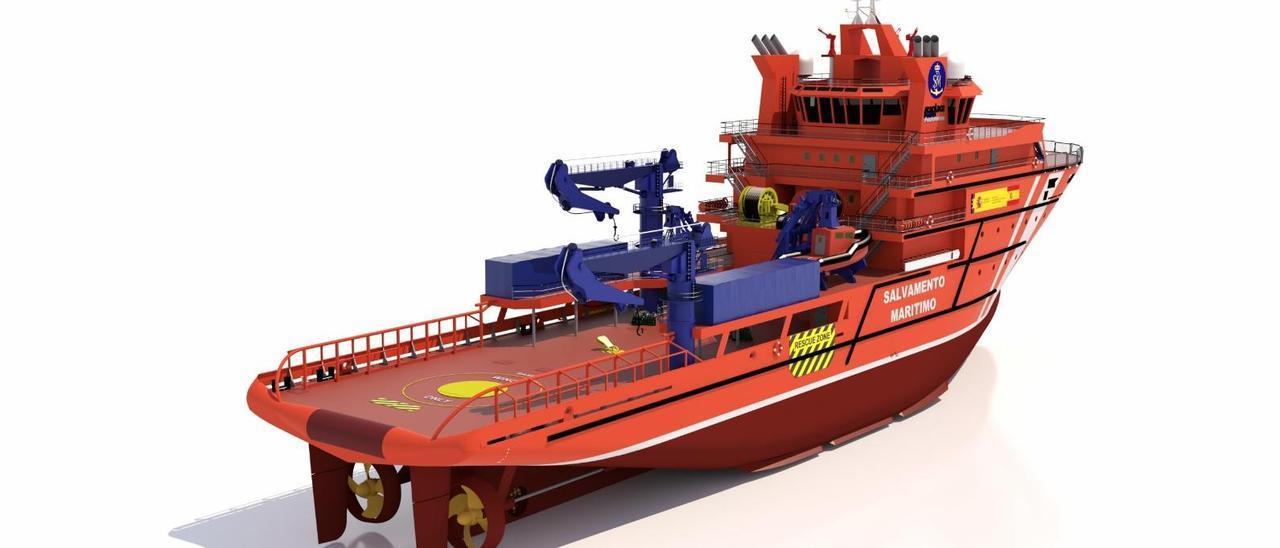 Recreación del buque