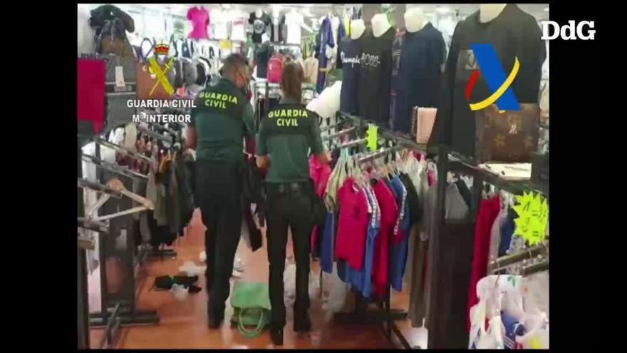 Un operatiu internacional posa al descobert més de 14.000 falsificacions a la Jonquera