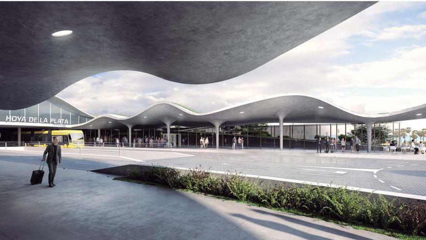Adjudicada la estación de la MetroGuagua en Hoya de la Plata, que tendrá 4.000 metros cuadrados de espacio libre