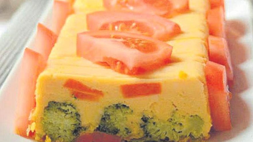Pastel de calabaza y verduras