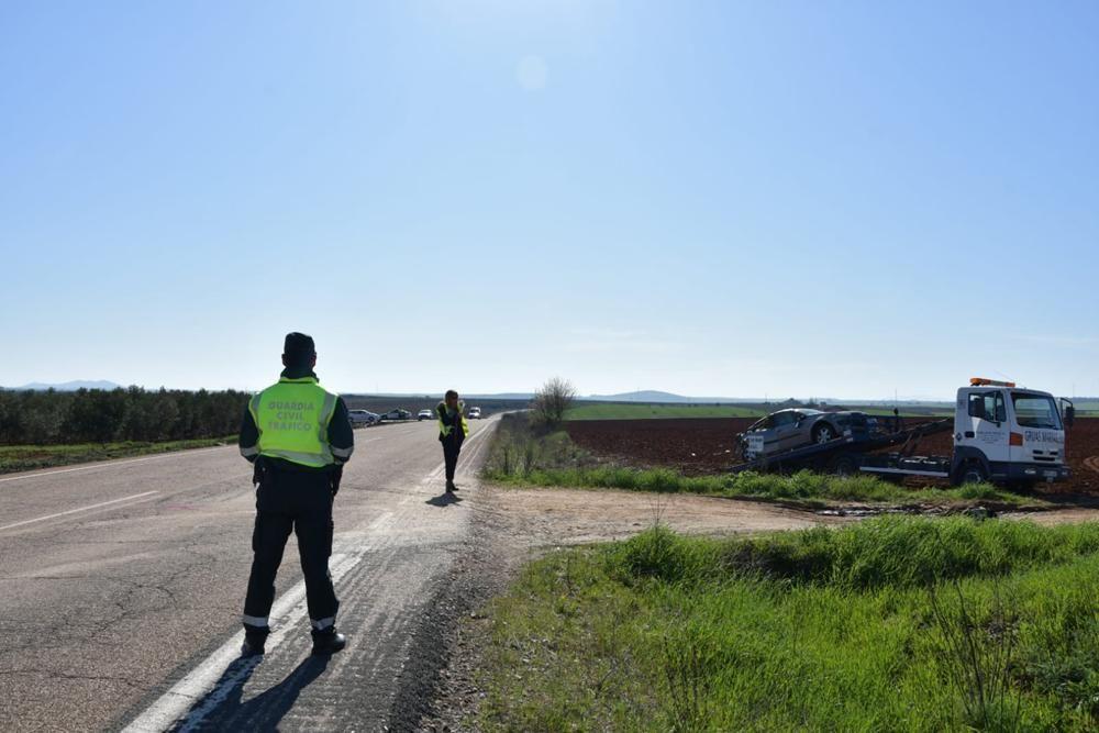 Las imágenes del accidente mortal en la N-630