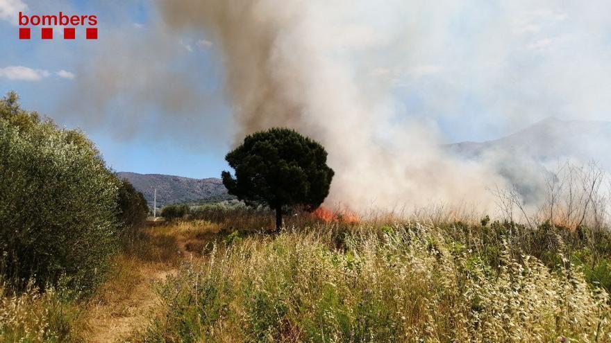 Incendi agrícola a Roses